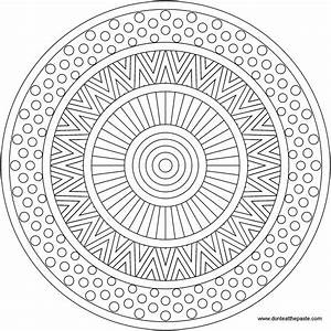 Don't Eat the Paste: Mixed Patterns Mandala to color