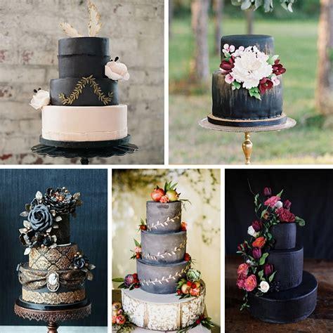 20 breathtaking black wedding cakes chic vintage brides
