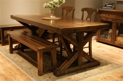 chateau trestle dining table  calgary alberta liken