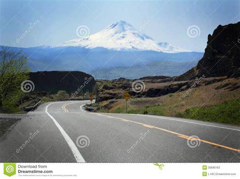 road  mt hood stock  image