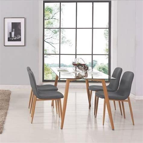 Table A Manger Avec Chaises by Table A Manger Verre Et Bois Achat Vente Table A