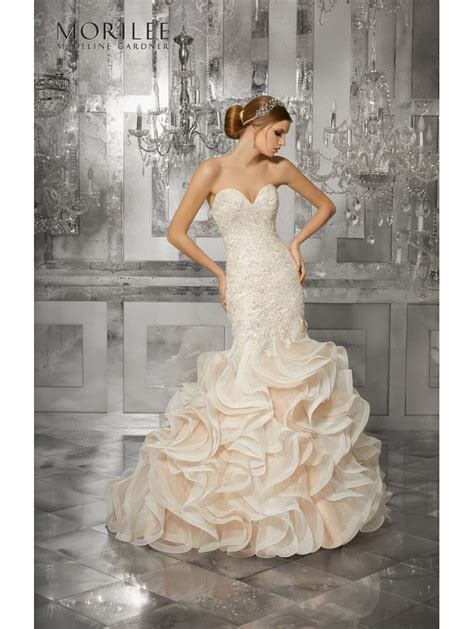 Mori Lee 8189 Mirjana Crystal Beaded Mermaid Style Dress