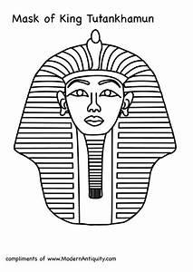 Tutankhanun mask clipart clipground for King tut mask template