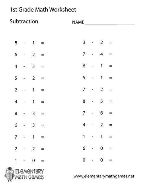 algebra fill   blank subtraction st grade google