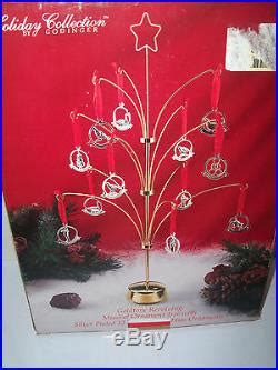 godinger revolving musical  days  christmas ornament