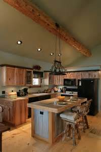 kitchen backsplash ideas with santa cecilia granite log cabin kitchens with modern and rustic style