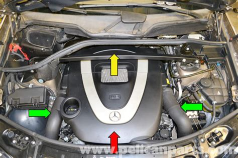 small engine maintenance and repair 2007 mercedes benz cls class instrument cluster mercedes benz x164 engine cover removal 2007 2014 gl350 gl450 gl550 pelican parts diy