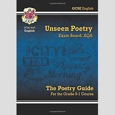 New Gcse English Literature Aqa Unseen Poetry Guide For The Grade 91 Course New 9781782943648