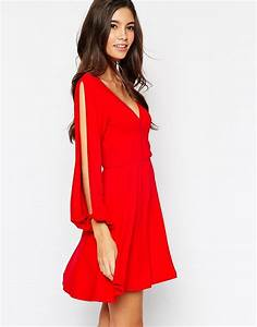 asos petite asos petite sexy 7039s wrap dress with split With robe cache coeur noire