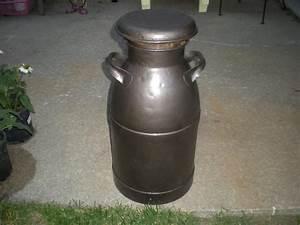 Vintage, -primitive, 10, Gallon, Milk, Can, W, Lid, -great, Decor