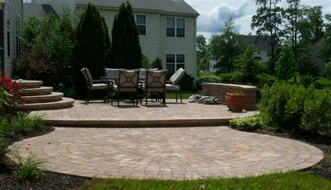 patio and landscaping new multi level backyard patio nickett landscaping