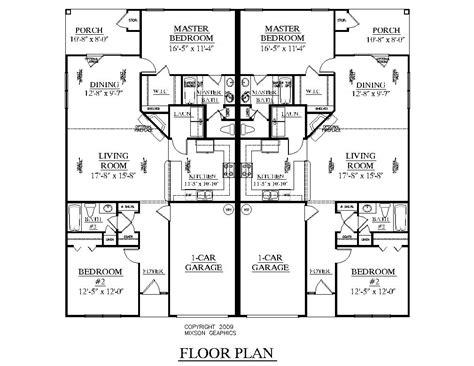 floor plans duplex southern heritage home designs duplex plan 1261 a