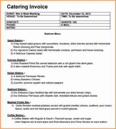 Free Downloadable Excel Templates Catering Invoice Template Free Rabitah