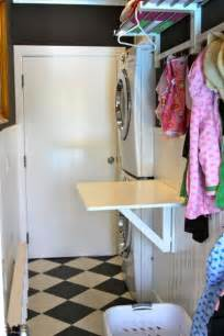 love this little folding table for the laundry room ours