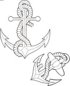 Anchor Tattoo Line Drawing