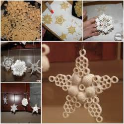 creative ideas diy salt dough snowflake ornaments