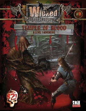 Paizocom  Wicked Fantasy Factory #0 Temple Of Blood (ogl