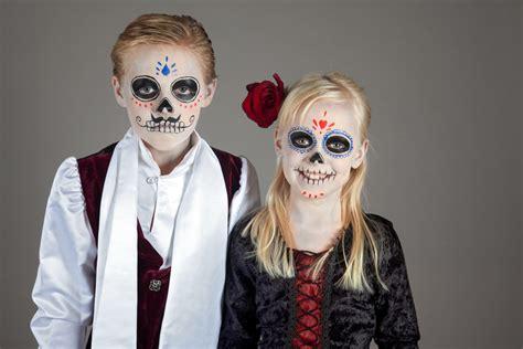 halloween kinder schminken  de los muertos
