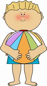 Kids At The Beach Clipart - Clipart Bay