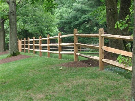 Western Red Cedar Split Rail Fencing Is A Great Way To