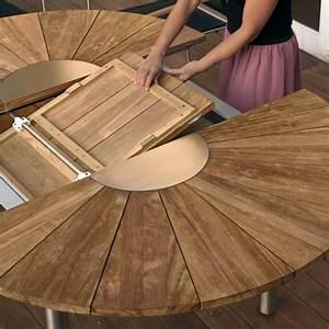 Runder Gartentisch Holz : gartentisch holz oval ausziehbar ~ Markanthonyermac.com Haus und Dekorationen