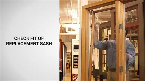 sash replacement  andersen primed wood casement windows   youtube