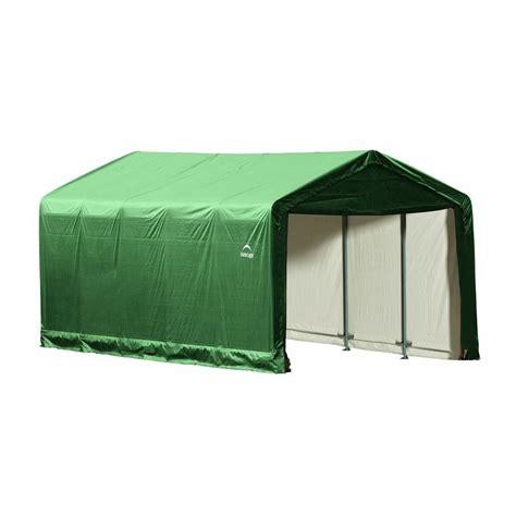 Home Depot Shelterlogic Sheds by King Canopy 7 Ft W X 12 Ft D Steel Storage Garage G0712