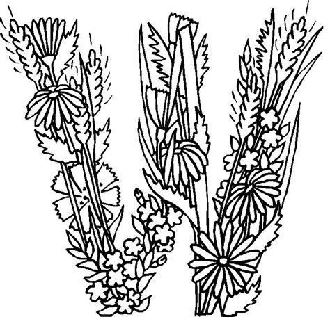 Kleurplaat Flower by N Coloring Page Alphabet Flowers Alphabet