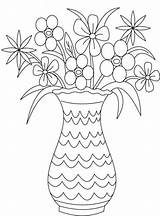 Coloring Bouquet Flower Vase Flowers Drawing Pot Printable Plant Draw Pots Sheets Getdrawings Popular Library Clipart Coloringhome Colorluna sketch template