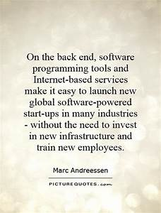On the back end... Software Employee Quotes