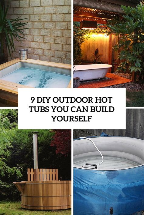 Outdoor Tub by 9 Diy Outdoor Tubs You Can Build Yourself Shelterness
