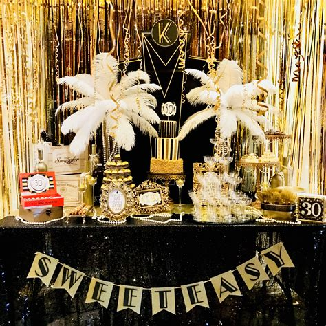 Great gatsby party Sweet barcreatedbyxti com