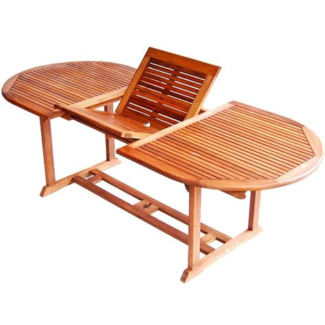 teak type extendable patio dining table