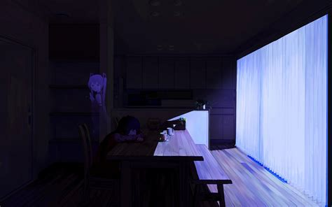 Anime Wallpaper Room - wallpaper anime room table blue vocaloid