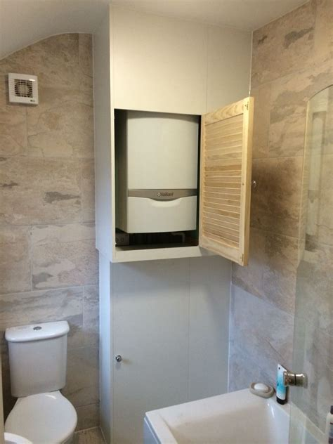 bathroom cupboard ideas built in boiler cupboard and storage unit home