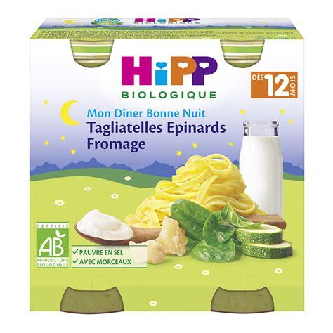 petits pots tagliatelles fromage epinards de hipp en vente chez cdm