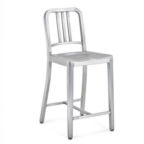 navy counter stool materials