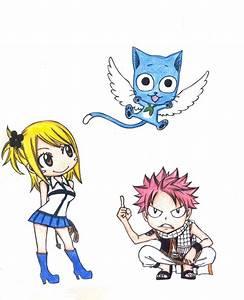 Chibi Natsu, Lucy and Happy by Timari93 on DeviantArt