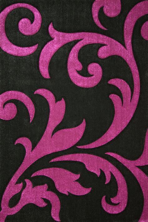 tapis de cuisine violet tapis moderne noir et violet 160x230 cm