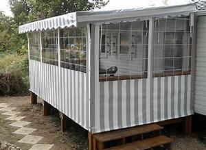Toile Extérieure Pour Terrasse : terrasse mobil home irm safrandestefoy ~ Melissatoandfro.com Idées de Décoration