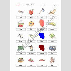 Kg1 English Words  Thumbs 1  Esl Worksheet By Maxxin