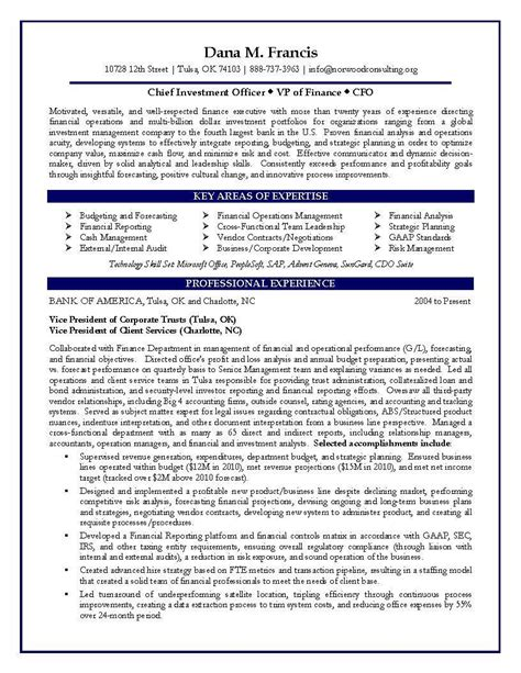 Finance Resume by Finance Resume Exles Cover Letter Resume Ideas