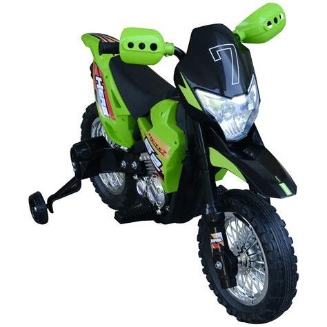 Seleziona d'epoca nuovo semestrale usato. HOMCOM Moto da Cross Elettrica con Rotelle Bambini Verde ...
