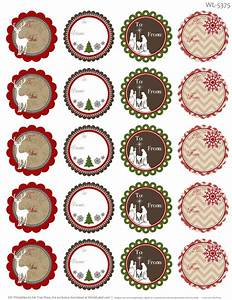 treetop glisten free christmas labels digital With blank round stickers for printing