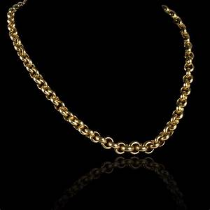 collier en or maille jaseron en chute 2015100581 With collier or