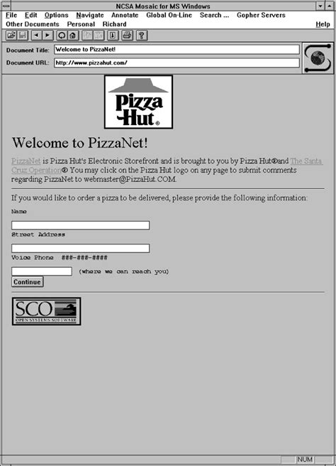 PizzaNet – commercially licensed and bundled Internet