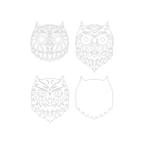 Digital drawings designed to create layered mandala wise turtle using any cnc cutting equipment ( laser cut, glowforge ) each design includes svg, dxf, ai, cdr, pdf files overall dimensions of the finished product 670 x 600 mm. Owl Layered Mandala Laser Cut File - SVG / DXF (1125808 ...