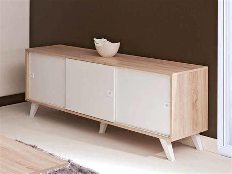 meuble cuisine profondeur 40 cm buffet bas avec portes coulissantes longueur 148cm finn