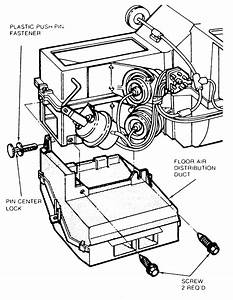 Heater Core Removal In A Mercury Grand Marquis 1989