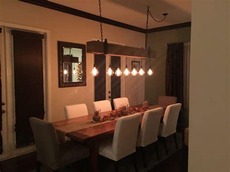 edison dining room lights reclaimed wood beam chandelier with edison globe lights